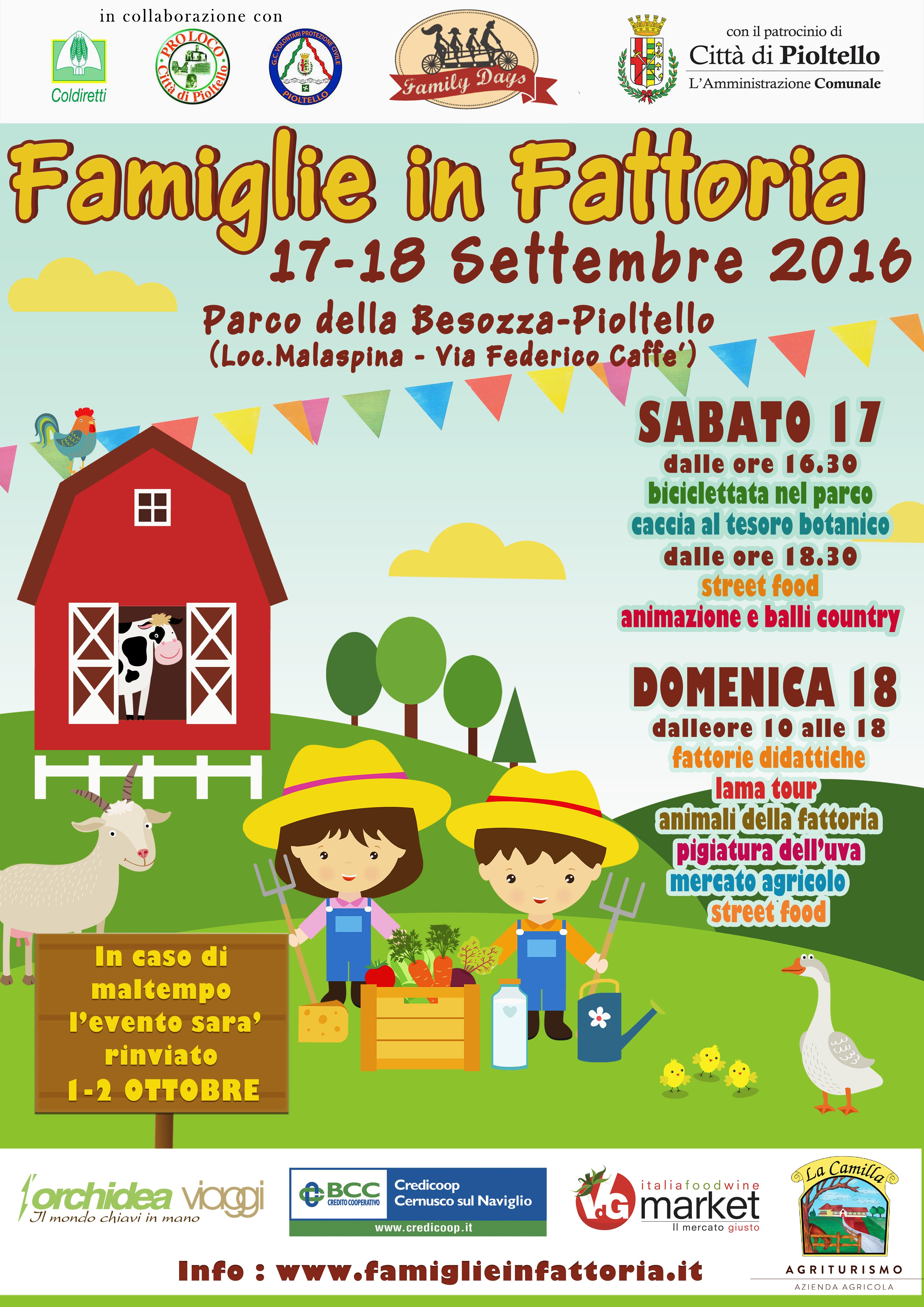 Famiglie in Fattoria 17 18 Settembre Volantino